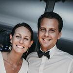 Anne-Charlotte & Benoit couple de jeunes mariés