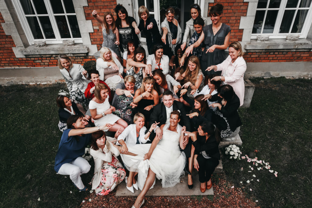 groupe d'invité de mariage