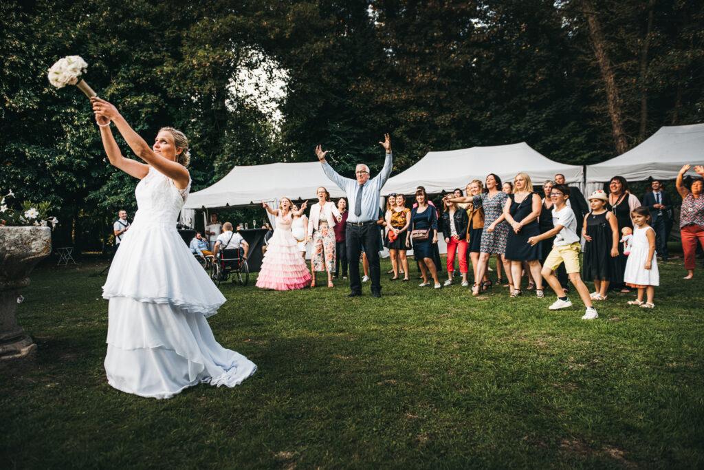 jeté de bouquet de mariage